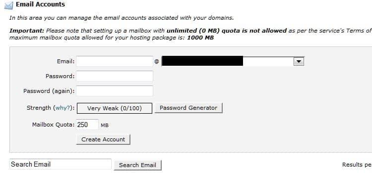 Creare un indirizzo email con SiteGround